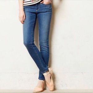 Pilcro and The Letterpress High Rise Skinny Jeans